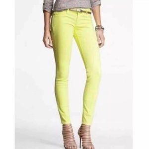 Express Neon Yellow Skinny Jeans